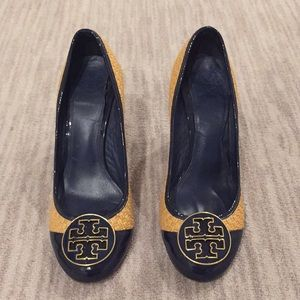 Tory Burch Heels Shoes size 8 navy patent leather